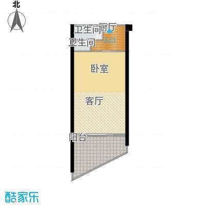 龙栖湾・波波利海岸76.00㎡户型1室1厅1卫