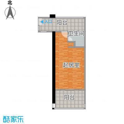 龙栖湾・波波利海岸77.00㎡户型1室1厅1卫