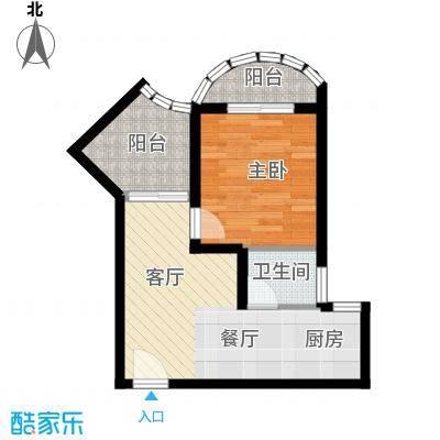 九龙湾44.09㎡一号楼C户型10室