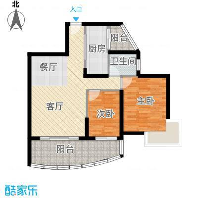 九龙湾78.32㎡一号楼D户型10室