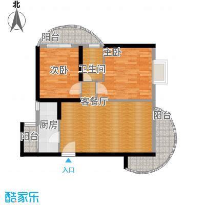 九龙湾71.83㎡一号楼A户型10室