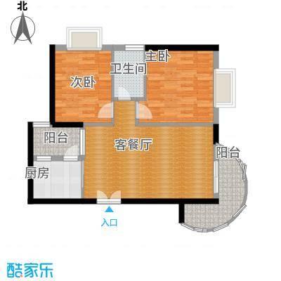 九龙湾68.95㎡二号楼A户型10室