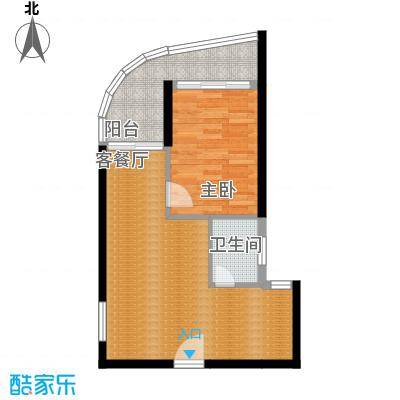 九龙湾50.53㎡二号楼B户型10室