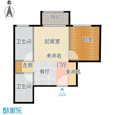 郁金台36.47㎡5#U户型1室1厅1卫