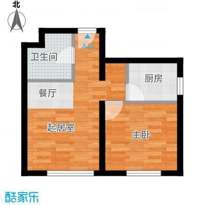 郁金台35.94㎡5#X户型1室1厅1卫