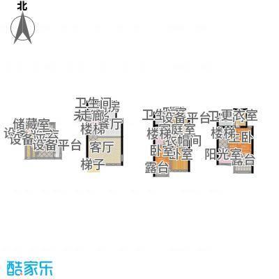 山水华门221.57㎡L户型1室3卫1厨