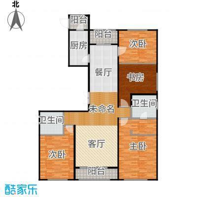 郁金台154.69㎡D供暖面积12879至户型4室2厅2卫