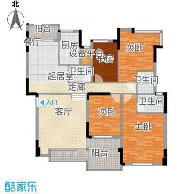海逸锦绣桃园168.00㎡9栋3座02单位户型4室1厅3卫1厨