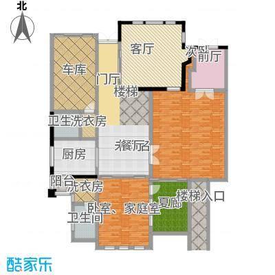 山水华门355.37㎡23#26#独栋别墅一层户型1室1厅2卫1厨