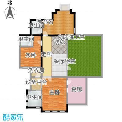 山水华门155.27㎡2326号楼独栋别墅二层户型2室3卫