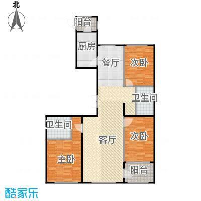郁金台119.74㎡B供暖面积1017至户型3室2厅2卫