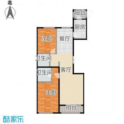 郁金台93.48㎡C供暖面积817至户型2室2厅1卫