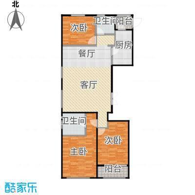 郁金台102.20㎡A供暖面积8817至户型3室2厅2卫
