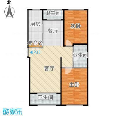 郁金台91.08㎡L供暖面积745至户型4室2厅1卫