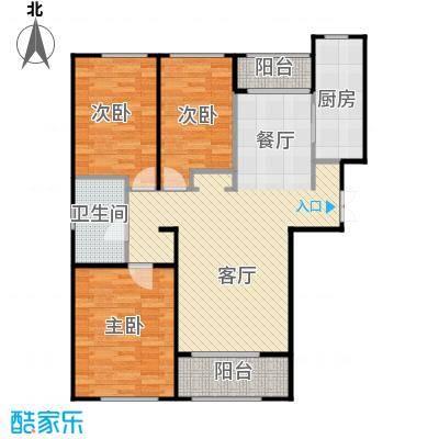 郁金台99.52㎡J供暖面积8869至户型3室2厅1卫