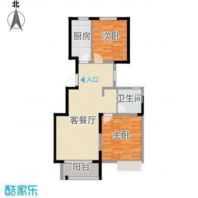华菁水苑86.52㎡A户型2室2厅1卫