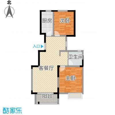 华菁水苑74.44㎡户型10室