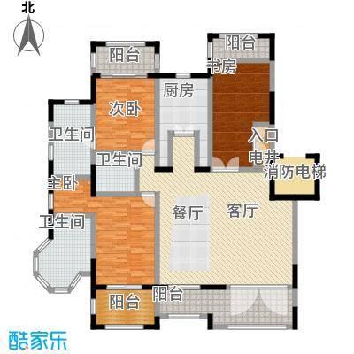 金泰・南燕湾165.00㎡洋房A3-1户型3室2厅3卫