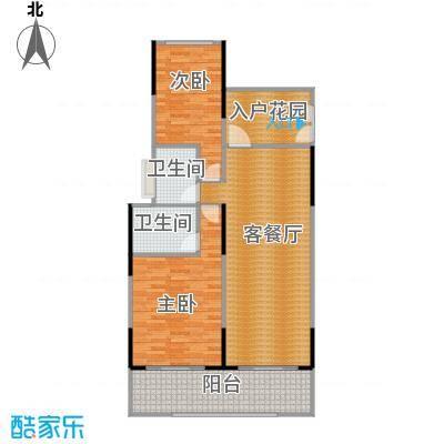 海棠福湾一号115.00㎡公寓C2户型2室2厅2卫