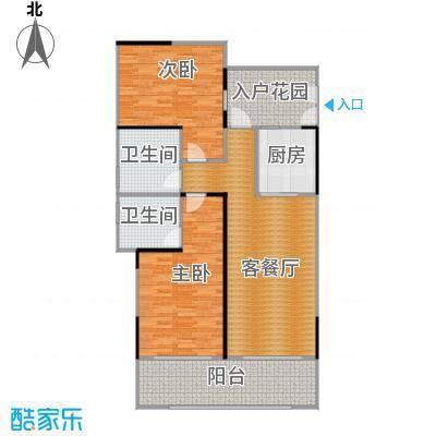 海棠福湾一号113.00㎡公寓C1户型2室2厅2卫