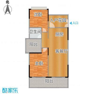 海棠福湾一号108.00㎡公寓C3户型2室2厅1卫