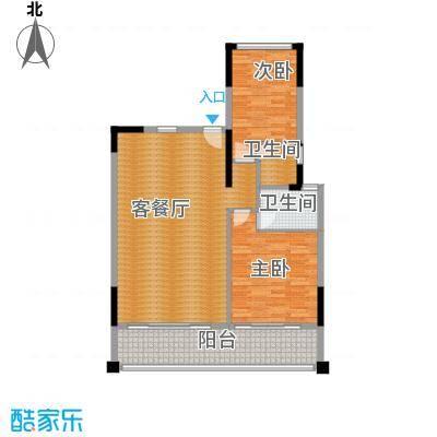 海棠福湾一号122.00㎡公寓C11户型2室2厅2卫