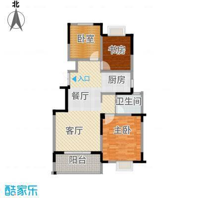 王子公馆85.23㎡B1户型2室1厅1卫