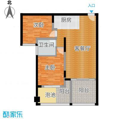 珊瑚宫殿102.53㎡海景公寓A2户型2室2厅1卫