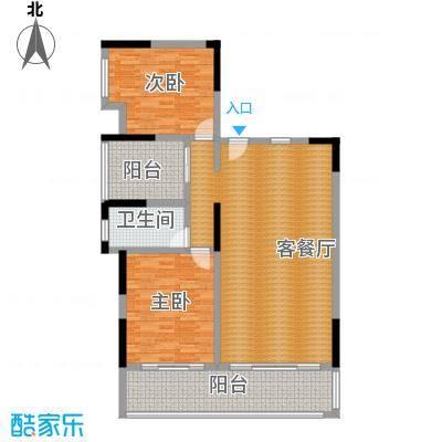 海棠福湾一号129.00㎡公寓C10户型2室2厅2卫