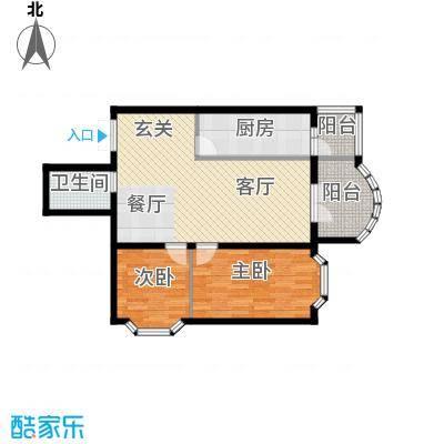 润园翡翠城101.92㎡D5号楼二居户型10室