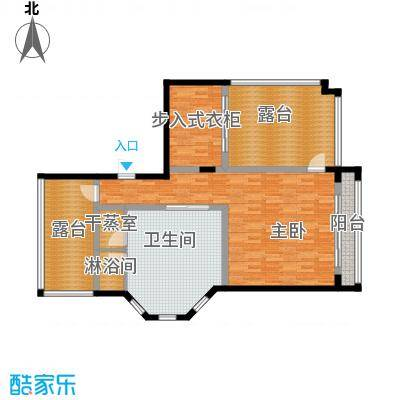珊瑚宫殿97.52㎡B型别墅三层户型1室1卫