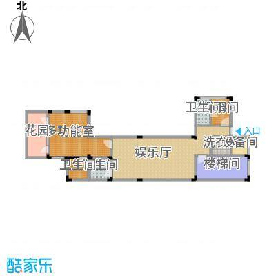 龙泉谷・三亚的山125.80㎡一期兰庭苑独栋G型户型3室4厅7卫