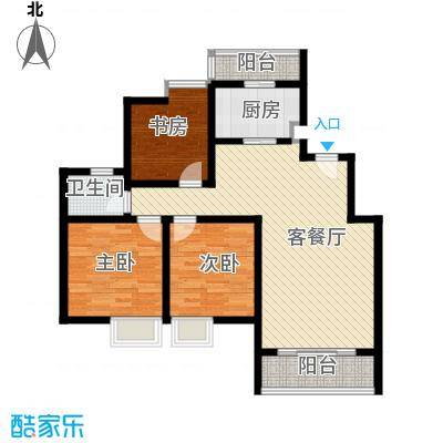 望山公馆94.68㎡户型10室
