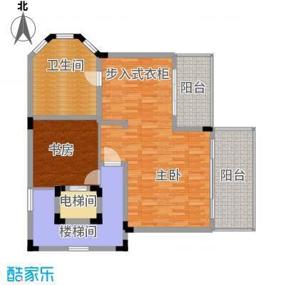 珊瑚宫殿101.92㎡C型别墅三层户型2室1卫