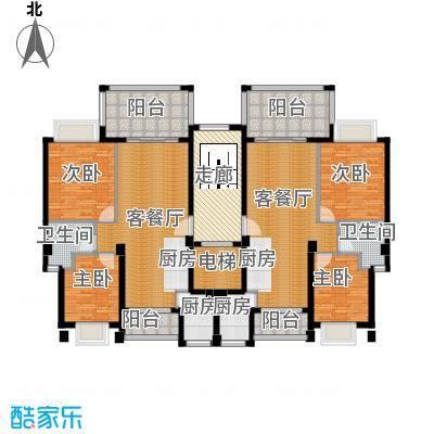 海棠湾六和悦城147.00㎡户型3室2厅3卫