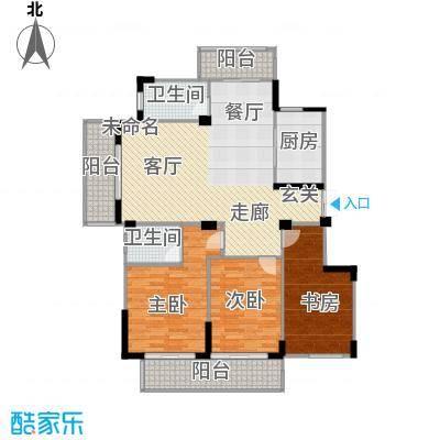 金王府134.88㎡57/58#A户型3室2卫1厨