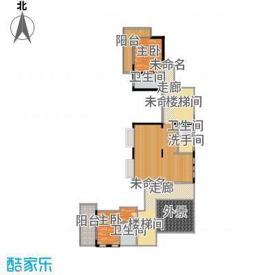 亚龙湾西山渡489.00㎡二期别墅D二层户型6室4厅8卫