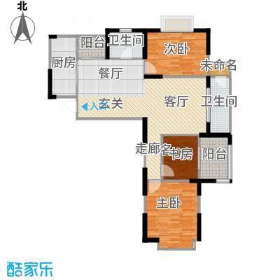 金王府120.25㎡53/54栋c户型3室2卫1厨