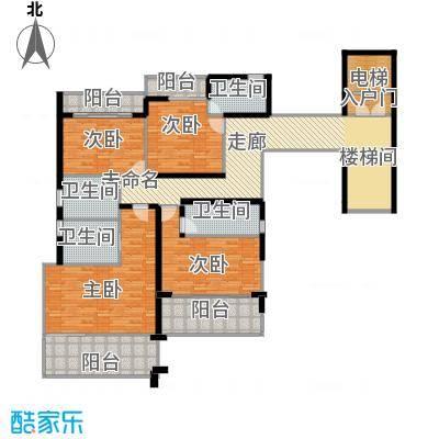 亚龙湾西山渡692.00㎡二期别墅E二层户型7室3厅9卫