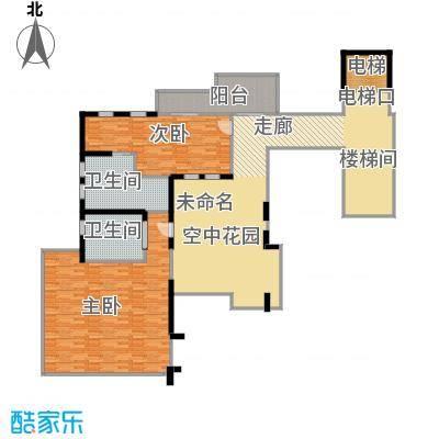 亚龙湾西山渡692.00㎡二期别墅E三层户型7室3厅9卫