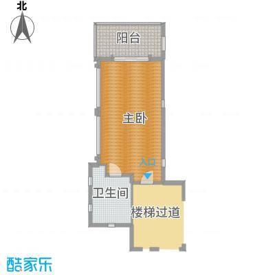 亚龙湾西山渡228.00㎡二期别墅A二层户型3室2厅4卫