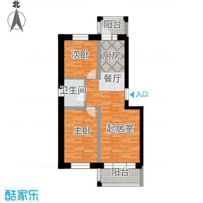 金河铭苑99.28㎡多层户型2室2厅1卫