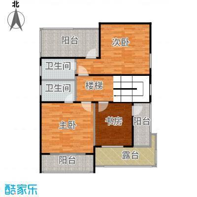 双富嘉园80.00㎡B区三层二层平面图户型10室
