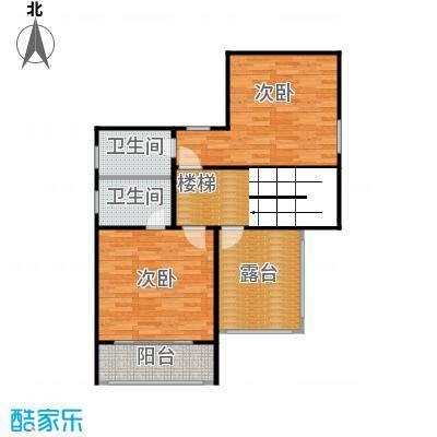 双富嘉园66.80㎡B区三层三层平面图户型10室