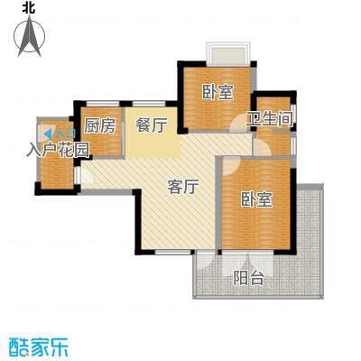 鲁能三亚湾91.64㎡B3楼奇数层b3-1户型2室2厅1卫