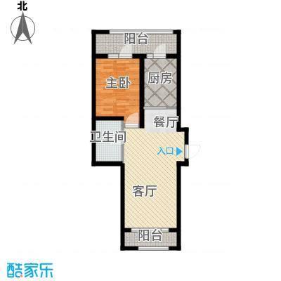 金上京公馆84.71㎡GA户型1室1厅1卫