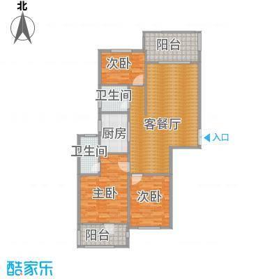 瑞鸿名邸108.71㎡c1130户型3室1厅2卫1厨