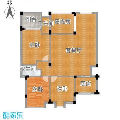 凤凰水城御河湾134.00㎡A1-b户型3室2厅2卫