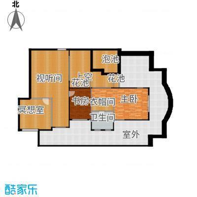 凤凰水城御河湾136.00㎡双首层水岸独栋A户型4室3厅3卫