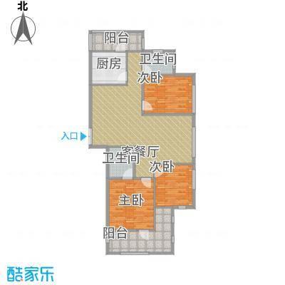 瑞鸿名邸111.98㎡A1户型3室1厅2卫1厨